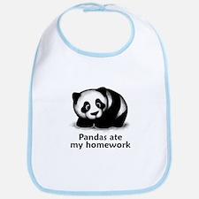 Pandas ate my homework Bib