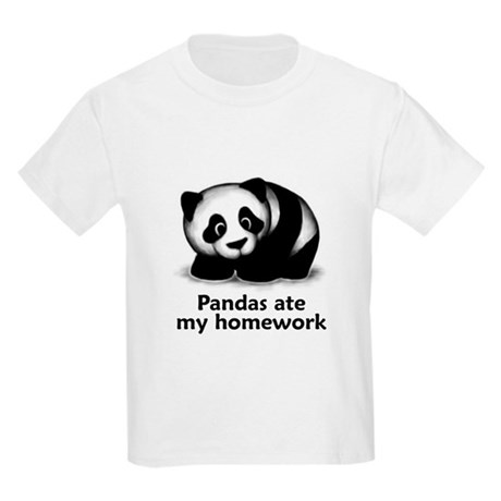 Pandas ate my homework Kids Light T-Shirt