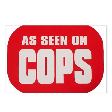 As Seen On Cops Postcards (Package of 8)