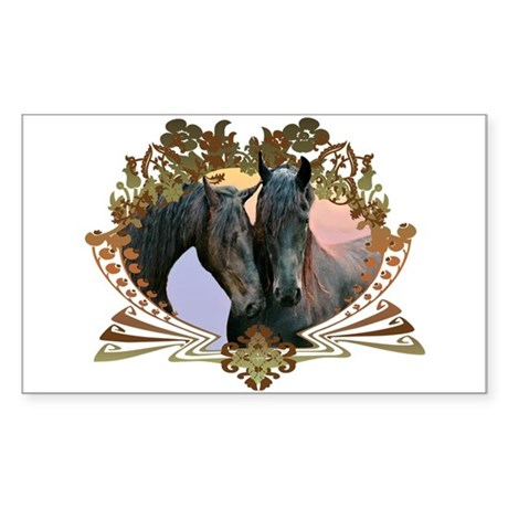 Horse Lover Rectangle Sticker