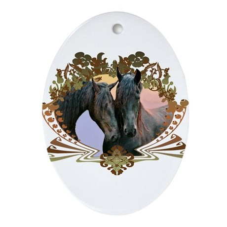 Horse Lover Oval Ornament