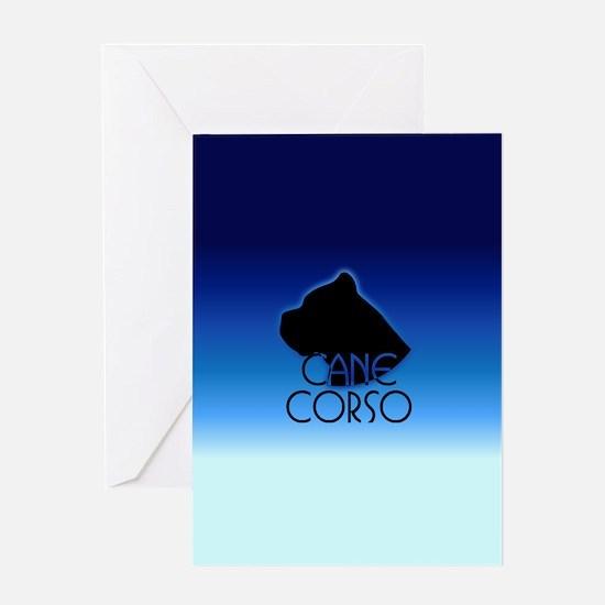 Blue Cane Corso Greeting Card