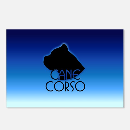 Blue Cane Corso Postcards (Package of 8)