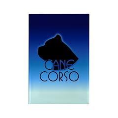 Blue Cane Corso Rectangle Magnet