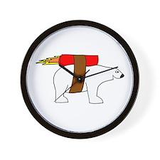 Rocket-Powered Polar Bear Wall Clock