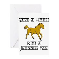 Johnnies Fan Greeting Card