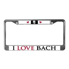 I Love Bach License Plate Frame