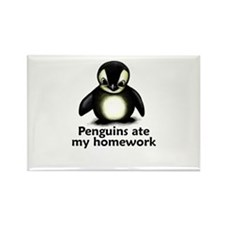 Penguins ate my homework Rectangle Magnet