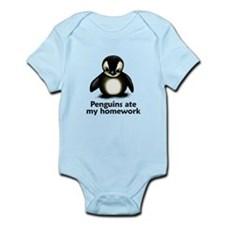 Penguins ate my homework Infant Bodysuit