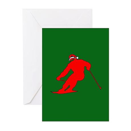 Christmas Skier Greeting Cards (Pk of 10)