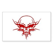 Skull Tattoo 1 Rectangle Decal
