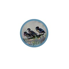 Wood Ducks Mini Button (100 pack)
