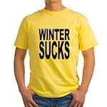 Winter Sucks Yellow T-Shirt