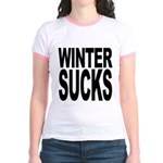 Winter Sucks Jr. Ringer T-Shirt