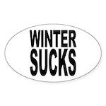 Winter Sucks Oval Sticker (10 pk)