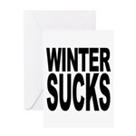 Winter Sucks Greeting Card