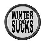 Winter Sucks Large Wall Clock