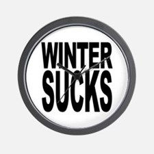 Winter Sucks Wall Clock