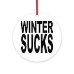 Winter Sucks Ornament (Round)
