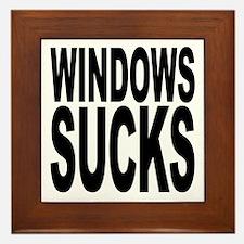 Windows Sucks Framed Tile
