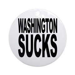 Washington Sucks Ornament (Round)
