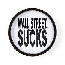 Wall Street Sucks Wall Clock