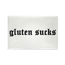 gluten sucks Rectangle Magnet
