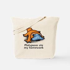 Platypuses ate my homework Tote Bag
