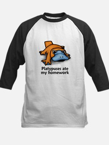 Platypuses ate my homework Kids Baseball Jersey