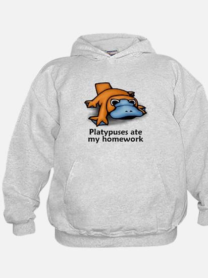 Platypuses ate my homework Hoody