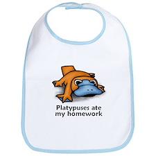 Platypuses ate my homework Bib