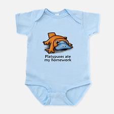 Platypuses ate my homework Infant Bodysuit