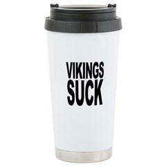 Vikings Suck Stainless Steel Travel Mug