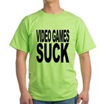 Video Games Suck Green T-Shirt