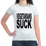 Vegetarians Suck Jr. Ringer T-Shirt