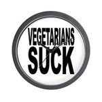 Vegetarians Suck Wall Clock