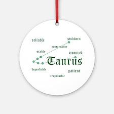 Taurus Ornament (Round)