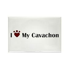 Cute Cavachon dog Rectangle Magnet