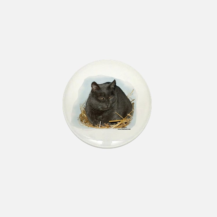 Jonesy the Chartreaux Cat Mini Button