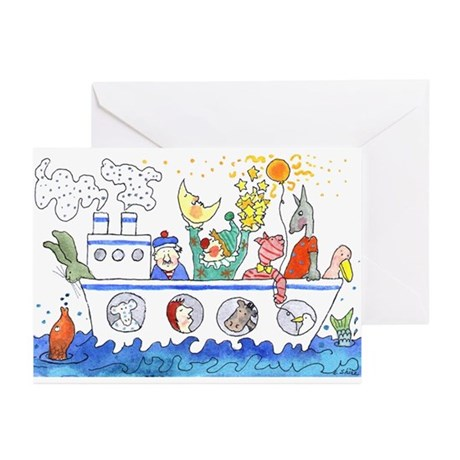 the boat Greeting Cards