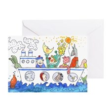 Cute Boat Greeting Cards (Pk of 10)