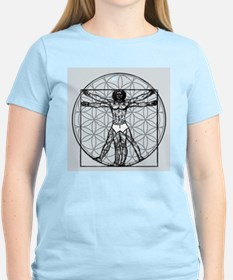 Vitruvian Flower of Life T-Shirt