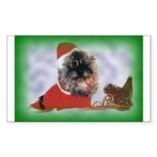 Santa Cairn With Shades Rectangle Decal