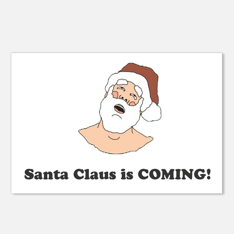 Santa Claus is COMING! Postcards (Package of 8)
