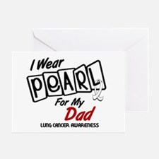I Wear Pearl For My Dad 8 Greeting Card