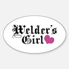 Welder's Girl Oval Decal