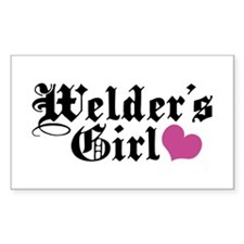 Welder's Girl Rectangle Decal