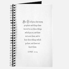 LUKE 10:24 Journal