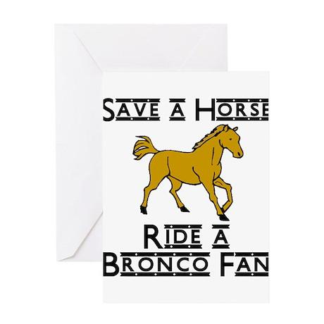 Bronco Greeting Card