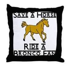 Bronco Throw Pillow